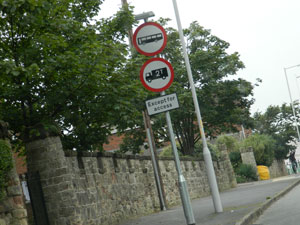 Road signs in Wirral